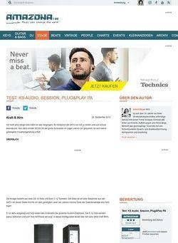 Amazona.de Test: KS Audio, Session, Plug&Play PA