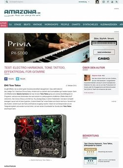 Amazona.de Test: Electro Harmonix, Tone Tattoo, Effektpedal für Gitarre