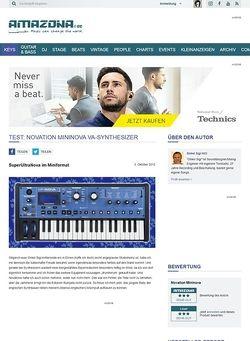 Amazona.de Test: Novation, Mininova, Synthesizer