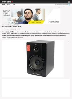 Bonedo.de M-Audio BX8 D2