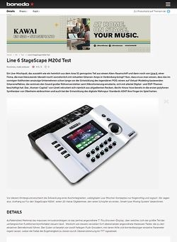 Bonedo.de Test-Preview: Line 6 StageScape M20d
