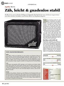 guitar gear Bassbox - Aguilar SL112