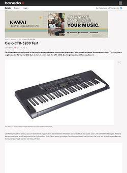 Bonedo.de Casio CTK-3200