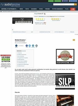 Audiofanzine.com Korg [Krome Series] Krome 61
