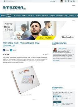 Amazona.de Test: ICon, QCon Pro / QCon EX, DAW-Controller