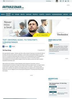 Amazona.de Test: Universal Audio, 710 Twin-Finity, Vorverstärker