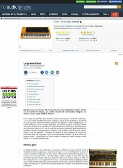 Audiofanzine.com Fatar / Studiologic Sledge
