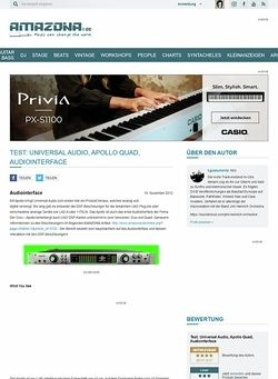Amazona.de Test: Universal Audio, Apollo Quad, Audiointerface