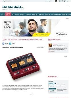 Amazona.de Test: Zoom, B3, Multi-Effektgerät für Bass