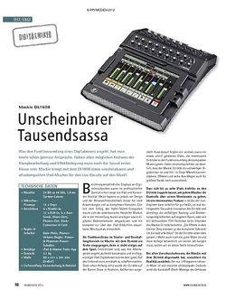 Soundcheck Mackie DL1608