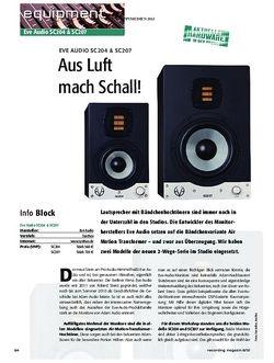 Recording Magazin Eve Audio SC204 & SC207