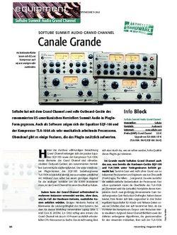 Recording Magazin Softube Summit Audio Grand Channel