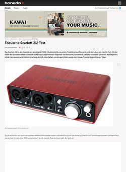 Bonedo.de Focusrite Scarlett 2i2 Test