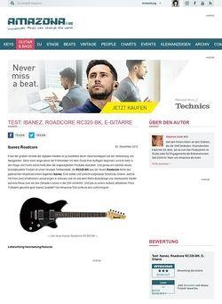 Amazona.de Test: Ibanez, Roadcore RC320-BK, E-Gitarre