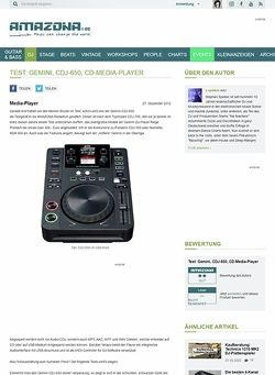 Amazona.de Test: Gemini, CDJ-650, CD-Media-Player
