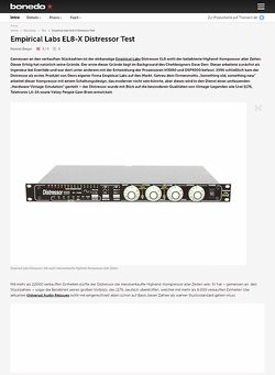 Bonedo.de Empirical Labs EL8-X Distressor Test