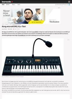 Bonedo.de Korg microKORG XL+ Test