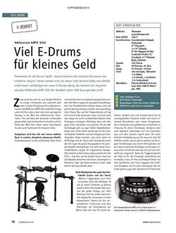 Soundcheck Test E-Drumset: Millenium MPS 500
