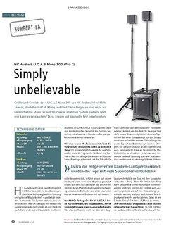 Soundcheck Test Kompakt-PA: HK Audio L.U.C.A.S. Nano 300 (Teil 2)