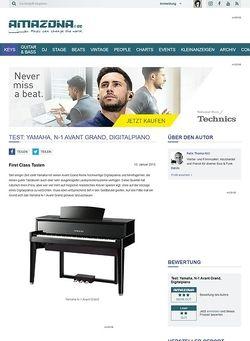 Amazona.de Test: Yamaha, N-1 Avant Grand, Digitalpiano