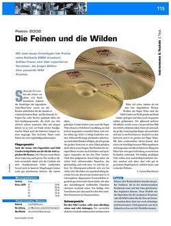 DrumHeads Test: Paiste 2002 - Die Feinen und die Wilden