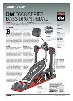 Rhythm DW 5000 SERIES BASS DRUM PEDAL