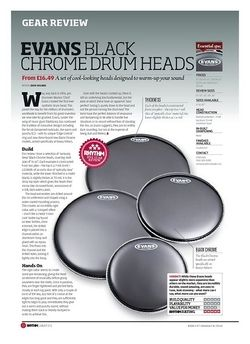 Rhythm EVANS BLACK CHROME DRUM HEADS