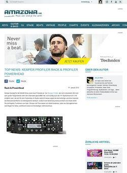 Amazona.de Top News: Kemper Profiler Rack & Profiler PowerHead