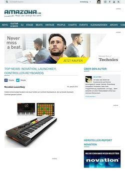 Amazona.de Top News: Novation, Launchkey, Controller-Keyboards