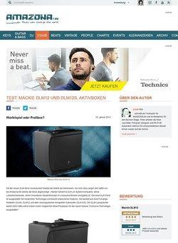 Amazona.de Test: Mackie DLM12 und DLM12S, Aktivlautsprecher