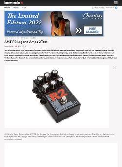 Bonedo.de AMT R2 Legend Amps 2 Test