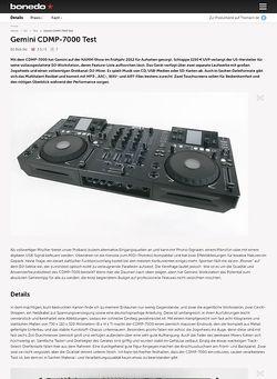 Bonedo.de Gemini CDMP-7000 Test