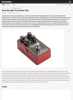 Bonedo.de Mesa Boogie Tone-Burst Test