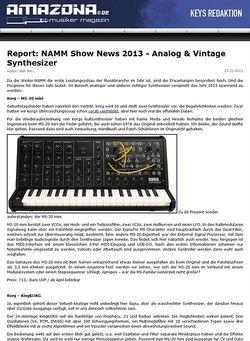 Amazona.de Report: NAMM Show News 2013 - Analog & Vintage Synthesizer