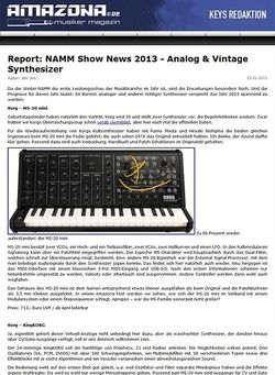 Amazona.de Report: NAMM Show News 2013 - Analog & Vintage Synthesizer