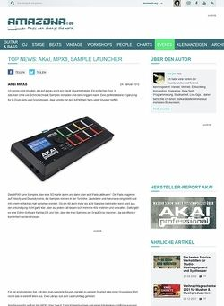 Amazona.de Top News: Akai, MPX8, Sample Launcher
