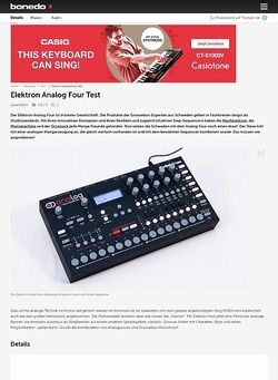 Bonedo.de Elektron Analog Four Test