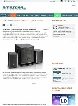 Amazona.de Test: LD Systems, Dave 10 G3, PA-System