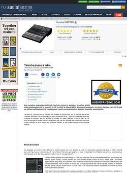 Audiofanzine.com Yamaha MGP16X