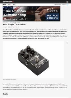 Bonedo.de Mesa Boogie Throttle Box