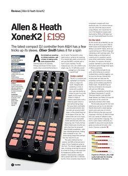Future Music Allen and Heath Xone:K2