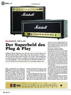 guitar Marshall DSL 100H & 40C