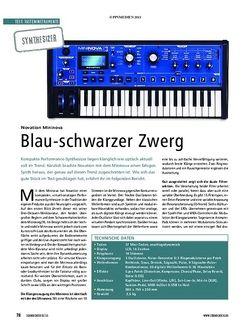 Soundcheck Test Synthesizer: Novation Mininova