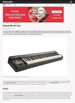 Bonedo.de Roland RD-64 Test