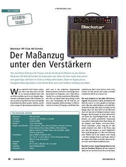 Soundcheck Test Gitarren-Combo: Blackstar HT Club 40 Combo