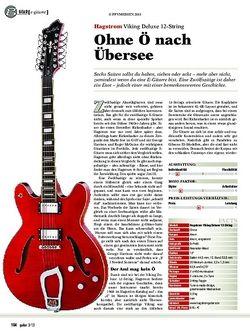 guitar gear E-Gitarre - Hagstrom Viking Deluxe 12-String
