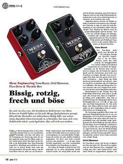 guitar gear Effekte - Mesa Engineering Tone-Burst, Grid Slammer, Flux-D