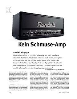 Gitarre & Bass Randall RG1503H, Budget-Topteil