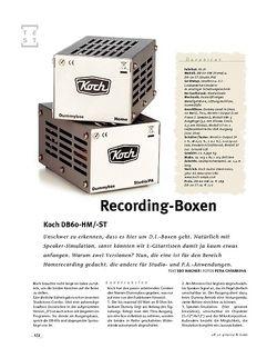 Gitarre & Bass Koch DB60-HM/-ST, Recording-D.I.-Boxen