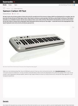 Bonedo.de Samson Carbon 49 Test